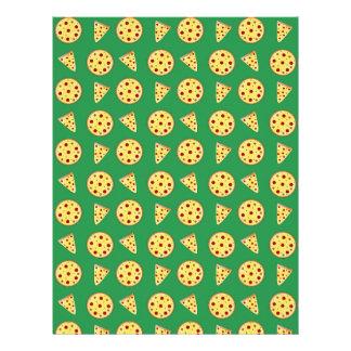 modelo verde de la pizza plantilla de membrete