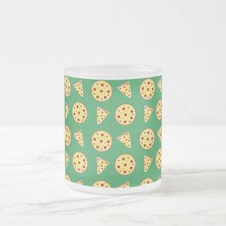 modelo verde de la pizza tazas