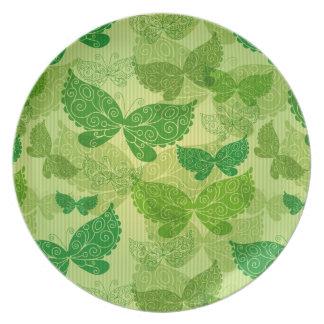 Modelo verde de la primavera plato de cena
