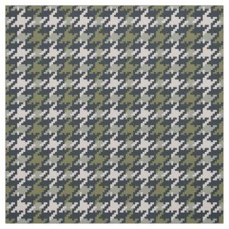 Modelo verde de la tela escocesa del houndstooth telas