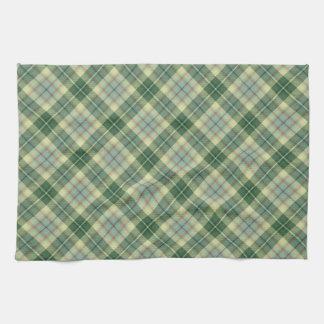 Modelo verde de la tela escocesa toallas de cocina