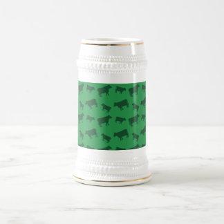 Modelo verde de la vaca tazas de café