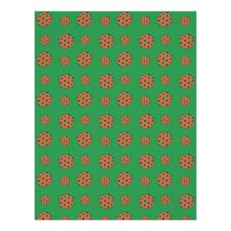 Modelo verde de las galletas de microprocesador de plantilla de membrete