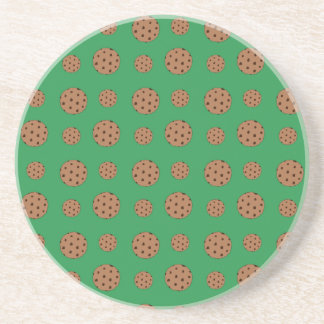 Modelo verde de las galletas de microprocesador de posavasos manualidades