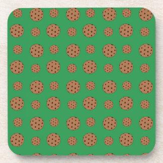 Modelo verde de las galletas de microprocesador de posavasos
