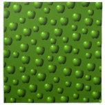 Modelo verde de las manzanas servilleta imprimida