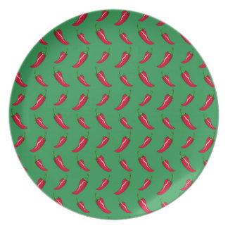 modelo verde de las pimientas de chile
