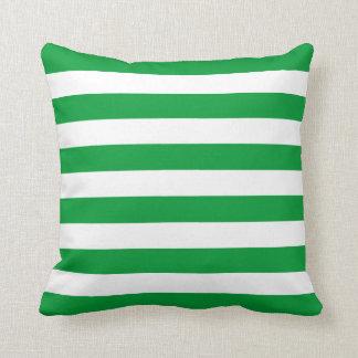 Modelo verde de las rayas de Kelly Cojin