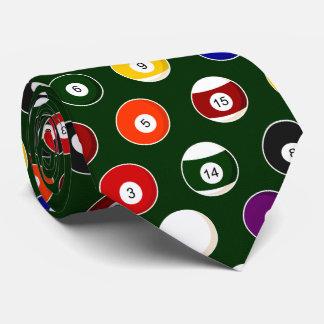 Modelo verde de los billares de la bola de piscina corbata personalizada