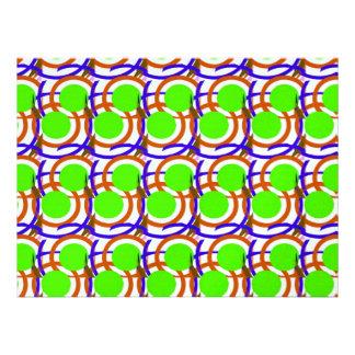 Modelo verde de los círculos anuncios personalizados