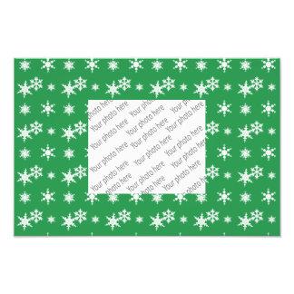Modelo verde de los copos de nieve del navidad fotografia