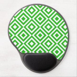 Modelo verde de los cuadrados alfombrillas con gel