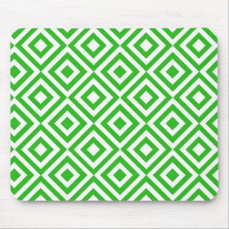 Modelo verde de los cuadrados mousepad
