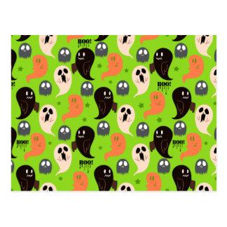 Modelo verde de los fantasmas fantasmagóricos tarjeta postal
