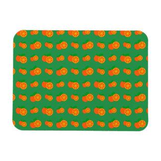 Modelo verde de los naranjas imanes rectangulares