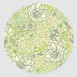 Modelo verde de los succulents etiqueta