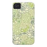 Modelo verde de los succulents iPhone 4 cobertura