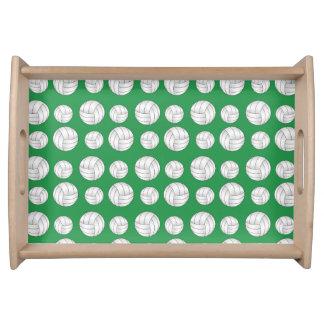 Modelo verde de los voleiboles bandeja
