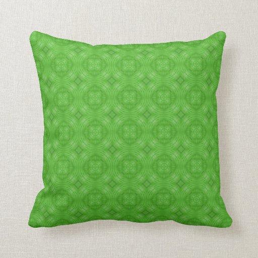 Modelo verde de moda del círculo cojines