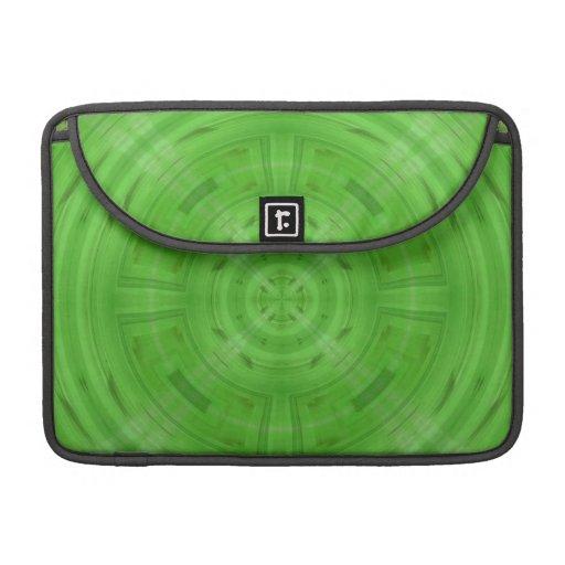 Modelo verde de moda del círculo funda para macbook pro
