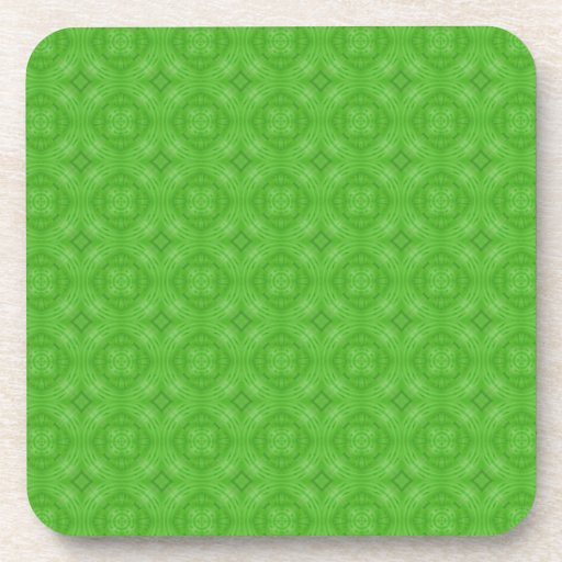 Modelo verde de moda del círculo posavasos