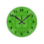 Modelo verde de moda del círculo relojes de pared