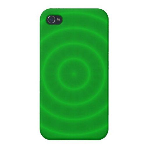 Modelo verde de neón brillante de los espirales iPhone 4/4S funda