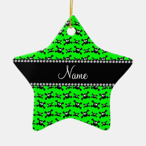 Modelo verde de neón conocido personalizado de los adorno de navidad