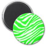 Modelo verde de neón de la cebra imán de frigorifico