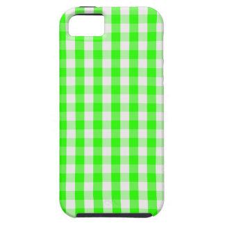 Modelo verde de neón de la guinga iPhone 5 carcasa