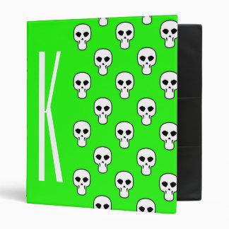 Modelo verde de neón de los cráneos
