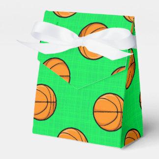 Modelo verde de neón del baloncesto cajas para regalos de fiestas