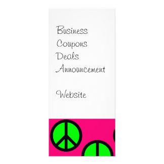 Modelo verde de neón del Hippie del signo de la Diseños De Tarjetas Publicitarias