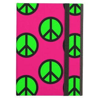 Modelo verde de neón del Hippie del signo de la pa