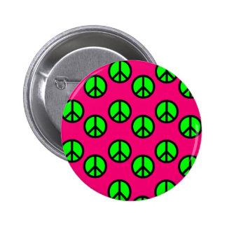 Modelo verde de neón del Hippie del signo de la pa Pins