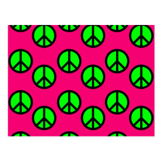 Modelo verde de neón del Hippie del signo de la Tarjetas Postales