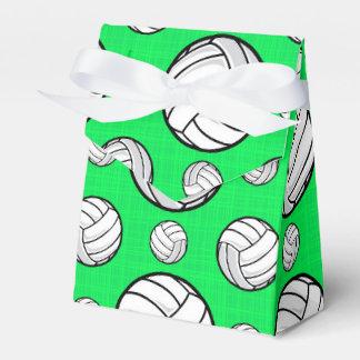 Modelo verde de neón del voleibol cajas para detalles de boda