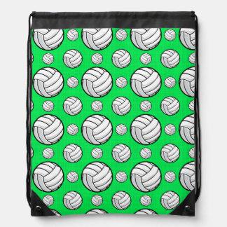 Modelo verde de neón del voleibol mochilas
