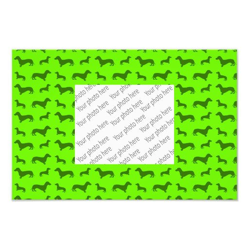 Modelo verde de neón lindo del dachshund arte fotografico