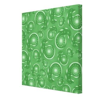 Modelo verde de Paisley Lienzo Envuelto Para Galerías