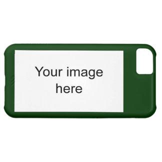 Modelo verde de plantilla en blanco fácil y rápida funda para iPhone 5C