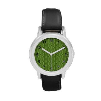 Modelo verde de Plantlike Reloj