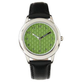 Modelo verde de Plantlike Relojes De Pulsera
