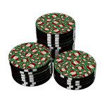 Modelo verde de santa fichas de póquer