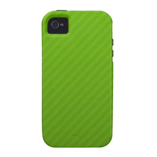 Modelo verde de Striipes iPhone 4/4S Fundas