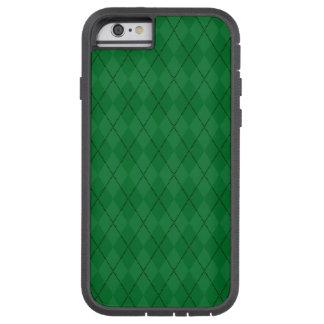 Modelo verde del argyle funda tough xtreme iPhone 6
