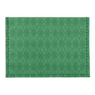 Modelo verde del argyle tarjeteros tyvek®