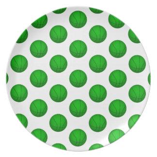 Modelo verde del baloncesto platos