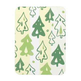 Modelo verde del bosque de los árboles de pino imanes rectangulares