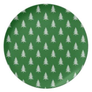 Modelo verde del bosque platos